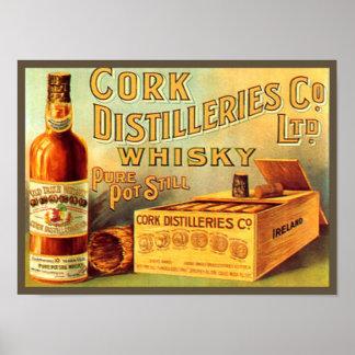 Anuncio del vintage del whisky de las destilerías impresiones