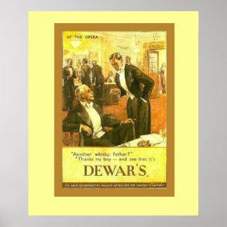 Anuncio del vintage el whisky escocés del Dewar Posters