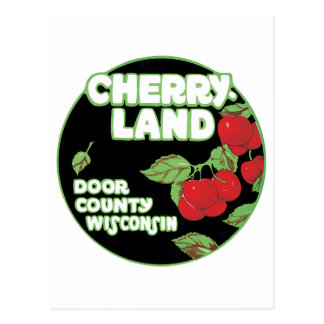 Anuncio del vintage para Cherryland, el condado de Postal