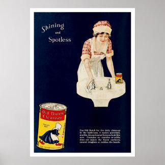 Anuncio del vintage para la despedregadora holande impresiones