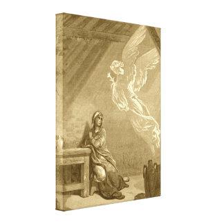 Anuncio del Virgen María bendecido Lienzo Envuelto Para Galerias