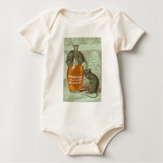 Anuncio del whisky de puré amargo de la ermita con body para bebé