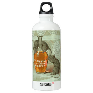 Anuncio del whisky de puré amargo de la ermita con botella de agua