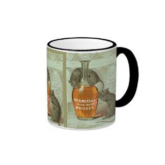 Anuncio del whisky de puré amargo de la ermita con taza