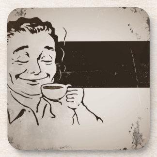 Anuncio delicioso retro del café posavaso