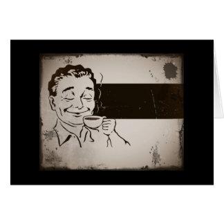 Anuncio delicioso retro del café tarjeta de felicitación