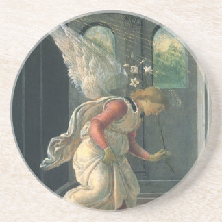 Anuncio (detalle del ángel) por Sandro Botticelli Posavasos De Arenisca