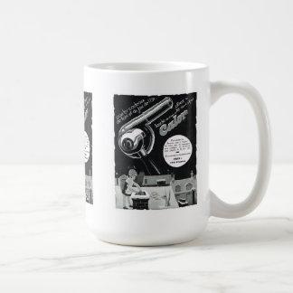 Anuncio echador taza de café