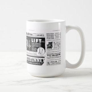 Anuncio elevación taza de café