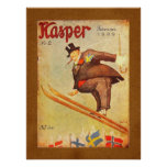 Anuncio escandinavo del cigarro del vintage posters