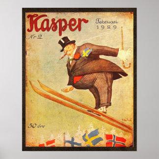 Anuncio escandinavo del cigarro del vintage póster