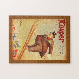 Anuncio escandinavo del cigarro del vintage puzzle