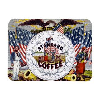 Anuncio estándar del café de los E.E.U.U. Iman Rectangular