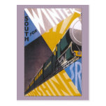 Anuncio ferroviario meridional del viaje del art tarjeta postal