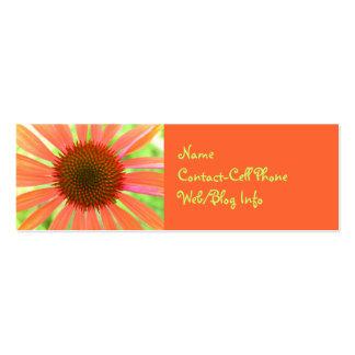 Anuncio floral anaranjado brillante tarjeta de visita