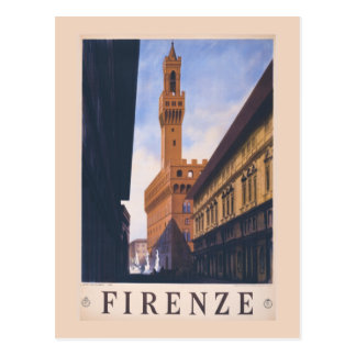 Anuncio Florencia Italia del viaje de Litho del Tarjetas Postales