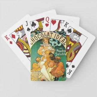 Anuncio francés c1895 del chocolate cartas de póquer