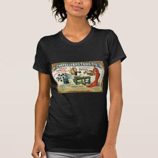 Anuncio francés Chapelleries 1890 del vintage Camisetas
