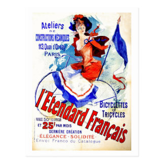 Anuncio francés Chéret de la bicicleta de la época Postal