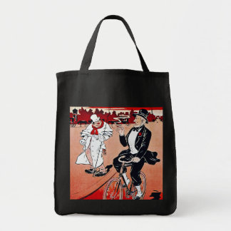 Anuncio francés de la bicicleta del vintage:  El a Bolsas
