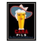 Anuncio francés de la cerveza del vintage postal