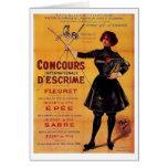 ¡Anuncio francés de la competencia de cercado del  Felicitaciones
