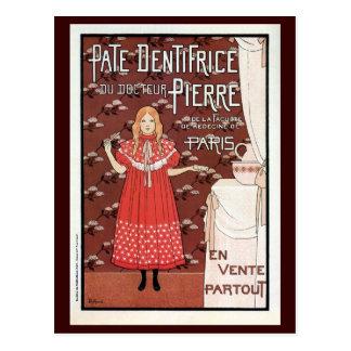 Anuncio francés de la crema dental de la época de tarjetas postales