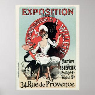 Anuncio francés de la exposición del nouveau del a poster