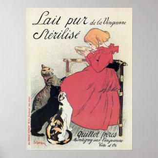 Anuncio francés de la leche del nouveau del arte