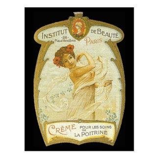 Anuncio francés de la nata del vintage - postal