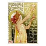 Anuncio francés del ajenjo del vintage felicitaciones