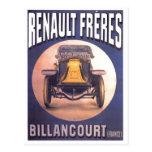 Anuncio francés del automóvil de Renault Freres Tarjetas Postales