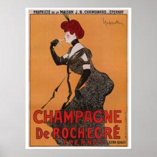 Anuncio francés del champán del vintage del nouvea póster