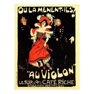 Anuncio francés del club nocturno del époque de la postales