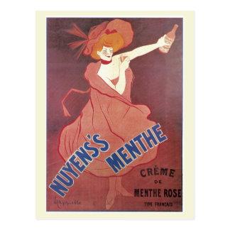 Anuncio francés del licor del nouveau del arte del postal
