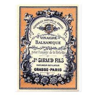 Anuncio francés del perfume tarjetas postales