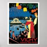 Anuncio francés del viaje de los años 20 de Vichy  Póster