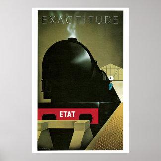 Anuncio francés del viaje del tren del art déco de póster