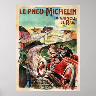 Anuncio francés del vintage de Le Pneu Michelin Póster