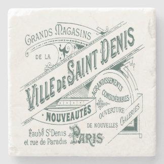 Anuncio francés del vintage del almacén grande posavasos de piedra