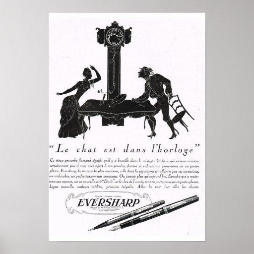 Anuncio francés Eversharp Impresiones