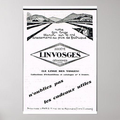 Anuncio francés Linvoges Posters