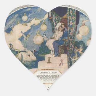 Anuncio francés romántico del perfume de Djerkiss Pegatina En Forma De Corazón