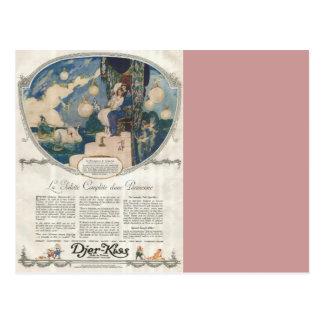 Anuncio francés romántico del perfume de Djerkiss Postales