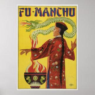 Anuncio Fu-Manchu del mago Poster