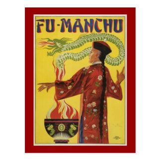 Anuncio Fu-Manchu del mago Postal