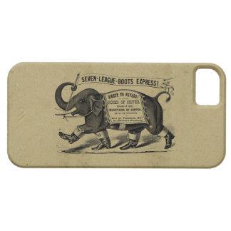 Anuncio gráfico del Victorian del elefante del vin iPhone 5 Case-Mate Funda