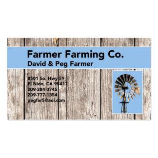 Anunció/granjero de la clavija tarjeta personal