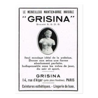 Anuncio, Grisinor Tarjetas Postales