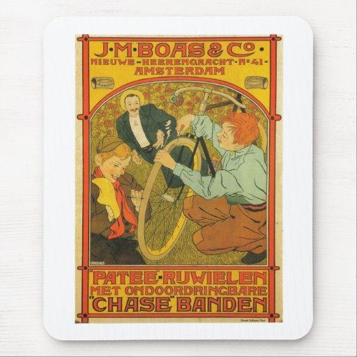 Anuncio holandés 1897 de la reparación de la mousepads